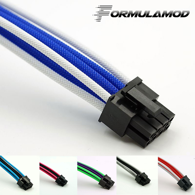FormulaMod Fm-PCI8P-D, PCI-E 8Pin GPU Power Extension Cables, Motherboard 18AWG 8Pin Multicolor Matching Extension Cables