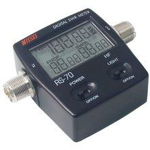Nissei RS 70 digital swr/medidor de potência hf 1.6 60 mhz 200 w so239 m tipo conector para bidirecional rádio swr medidor de potência walkie talkie
