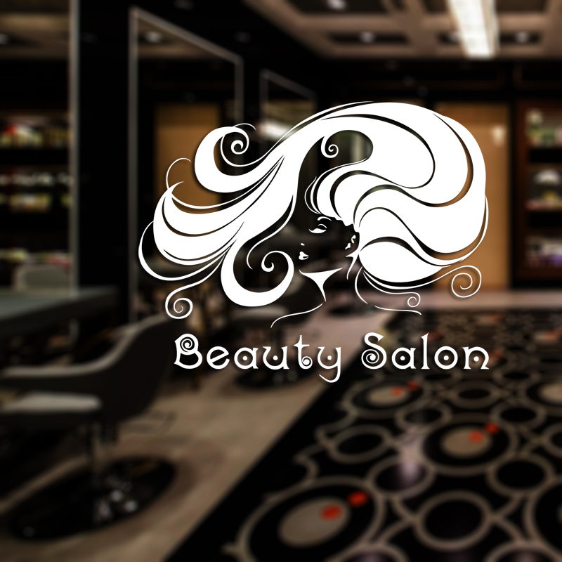 Hair Salon Sticker Beauty Decal Haircut Name Posters Time Hour Vinyl Wall Art Decals Decor Decoration Mural Salon Sticker removable sexy hair spa female face sticker art decor mural design for indroom decoration
