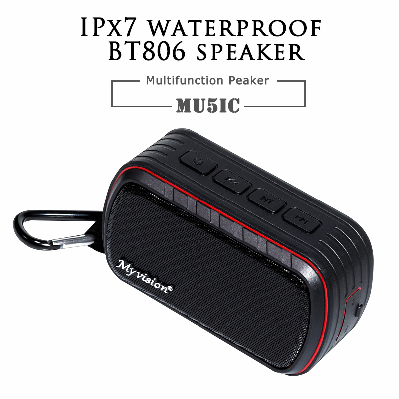 Portable Wireless Bluetooth 4.0 Speaker Input IPX7 Waterproof Mini with Carabiner Column with Hands free phone Outdoor with Mic wireless bluetooth speaker cute mushroom waterproof sucker mini bluetooth speaker audio outdoor portable bracket for xiaomi ipad