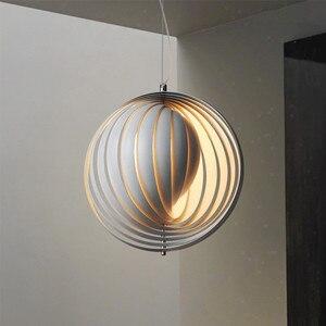 Image 1 - 北欧デザインの人格クリエイティブペンダントライト回転アート Hanglamp 寝室ダイニングルームバー玄関照明器具をぶら下げ