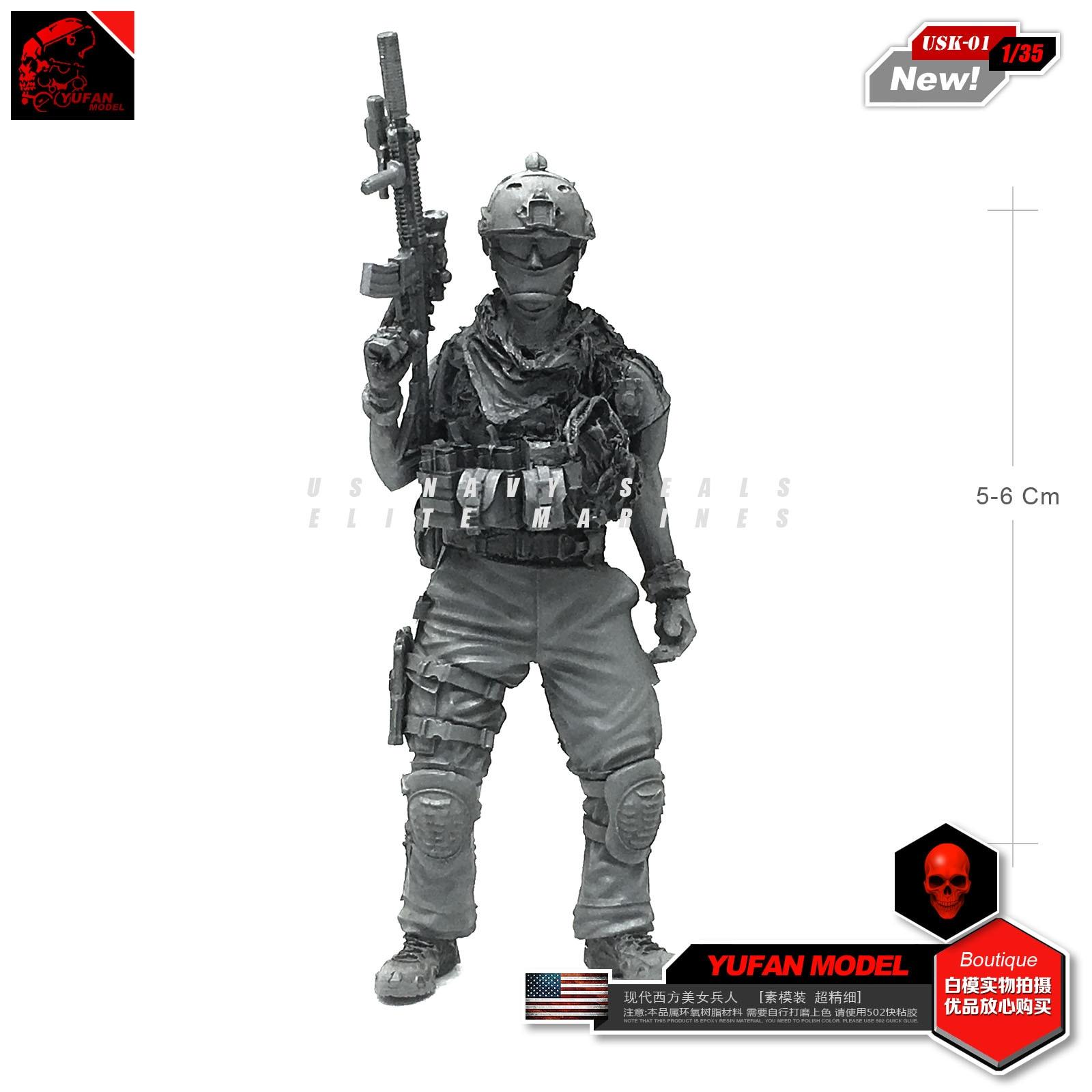 Yufan Model 1/35 Figure Modern American Soldier Resin Model Usk-01