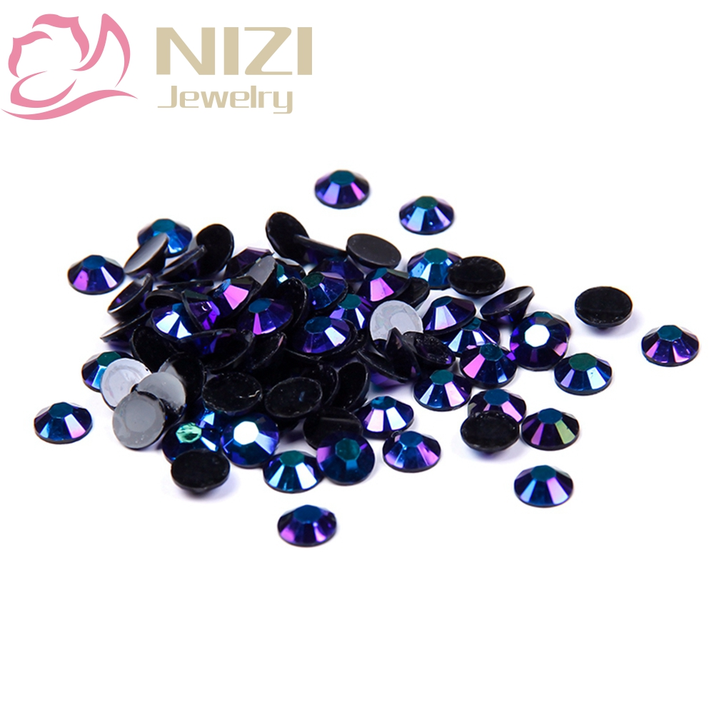 цены 2016 New Arrive Resin Rhinestones 2-6mm Purple Black AB Color Glitter Non Hotfix Flatback For Nail Art DIY Design Decorations