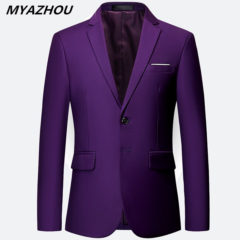 New Listing Luxury Men's Blazer Large Size 6XL Slim Solid Color Jacket, Fashion Business Banquet Wedding Dress Jacket S-6XL