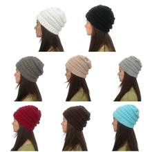 Unisex Winter Ribbed Knitted Short Melon Cap Solid Color Skullcap Baggy Retro Ski Fisherman Beanie Hat Slouchy Christmas Gifts 4(China)