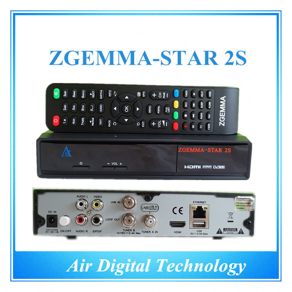 ФОТО 10pcs Best price original zgemma-star 2s hd combo DVB-S2+S2 satellite tv receiver  zgemma 2s IPTV box hot sell in uk