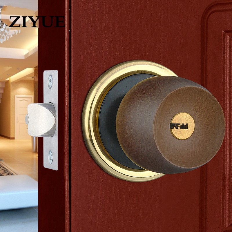 Free Shipping Beech Spherical Lock, European Style Door Lock, Indoor Door Lock, Pure Copper Lock Core, General Purpose ceramic lock the door when indoor european ball lock hold hand lock copper core s 026