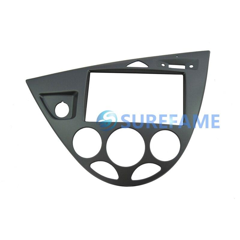 Двойная Din Автомобильная магнитола установка объемная панель для Ford для Focus MK1/Fiesta LHD фасции пластина Dash монтажный комплект внутренняя отделка Facia - Название цвета: Silver gray
