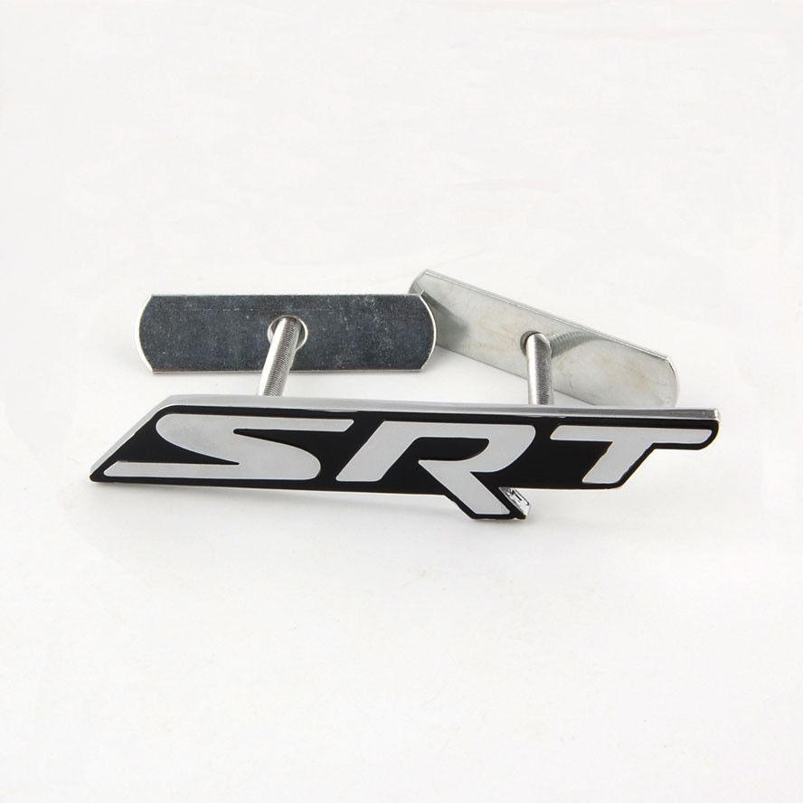 Черный металл авто srt Передняя решетка решетки эмблемы значка пригодный для Jeep Dodge Зарядное устройство Challenger