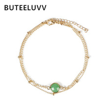 BUTEELUVV Elegant Ankle Bracelet Foot Jewelry Bohemian Beach Multilayer Chain Handmade Purple Green Crystal Anklets for Women-in Anklets from Jewelry & Accessories on Aliexpress.com | Alibaba Group
