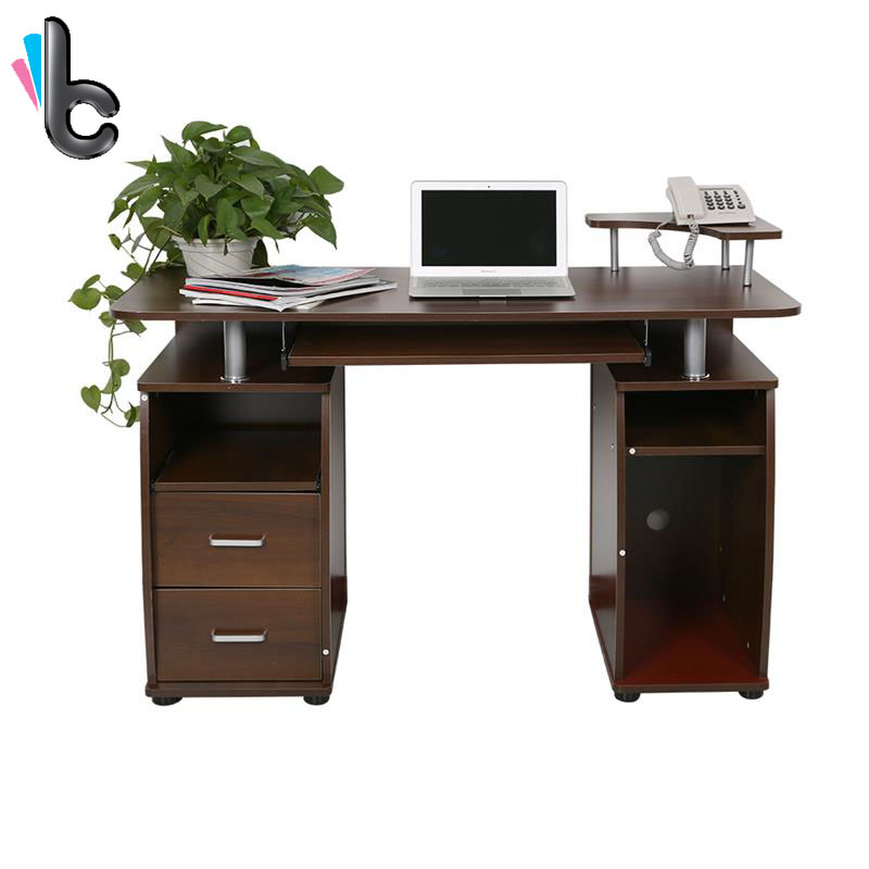 wooden office table computer desk workstation diy s shape home pc study table office furniture hot sale Computer Desk PC Laptop Table with Storage Study Home Office Furniture
