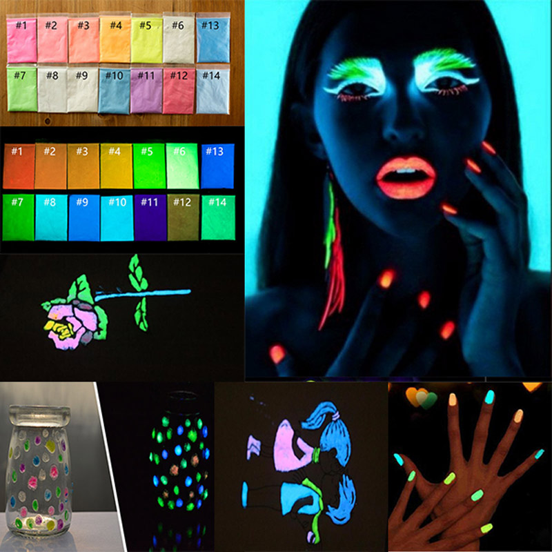 170g 17 Color Luminous Nail Polish Powder Glow In The Dark Glow Powder Photoluminescent Dust Luminous Pigment Fluorescent Powder170g 17 Color Luminous Nail Polish Powder Glow In The Dark Glow Powder Photoluminescent Dust Luminous Pigment Fluorescent Powder