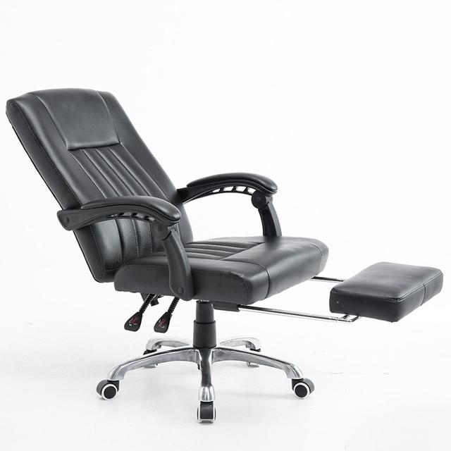 Ergonomic Leather Executive Office Chair Gaming Computer Chair Lifting 360 Degree Swivel Lying Footrest bureaustoel ergonomisch