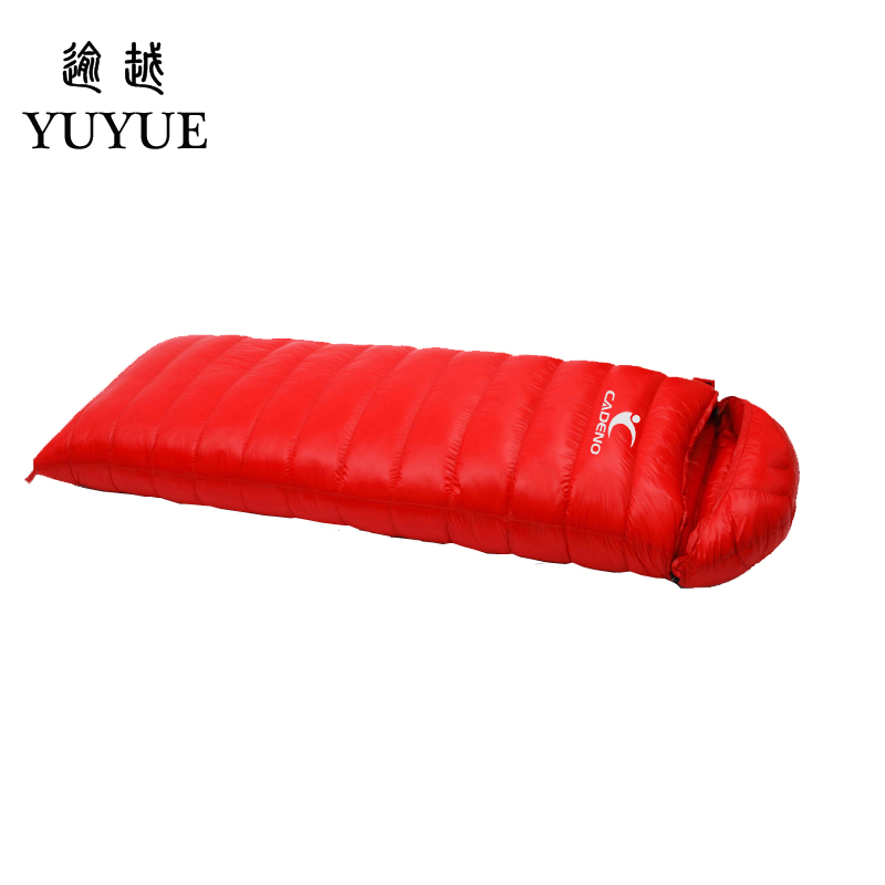 Tourism camping equipment sleeping bag adult  for tourist camping tent envelope type survival sleeping bag down sleeping bag 3