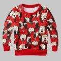 2017 Primavera Nueva Llegada de los Bebés Ropa de los muchachos suéter de felpa de dibujos animados de larga manga Camiseta camisetas del bebé Camisetas de los niños