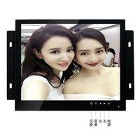 ZGYNK/10 inch Open Frame Industriële monitor/metalen monitor met VGA/AV/BNC/HDMI monitor