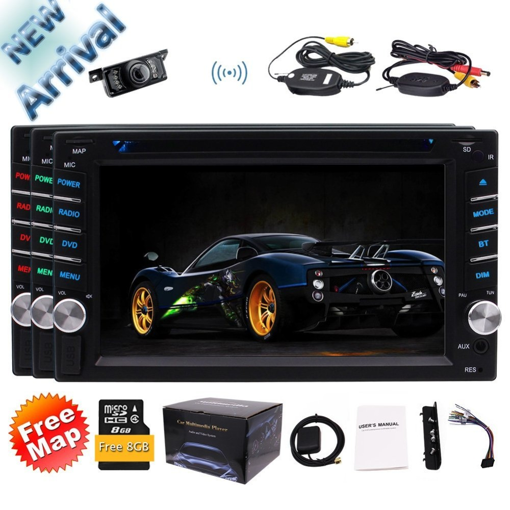 Camera+Two Din Touch Screen car PC Cassette tape recorder Stereo Receiver DVD 1080P Video Bluetooth GPS Navigation FM/AM radioCamera+Two Din Touch Screen car PC Cassette tape recorder Stereo Receiver DVD 1080P Video Bluetooth GPS Navigation FM/AM radio