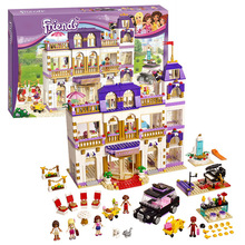 Bela 10547 Girls Friends Heartlake Grand Hotel Model Building Blocks Bricks Toys gift Compatible with Lepin 41101