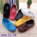 Children Boys Girls Boat Shoes boys Kids PU Leather Sneakers Slip On Soft Casual Flats shoes sandals Wholesale retail Size 21-38