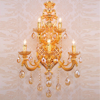 Bedside Wall Lamps for Bedrooms Luxury Decor Candles Mounted Wall Lamp Crystal Bedroom Lighting Fixtures Hotel Wall Night Lamps