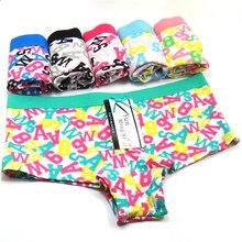 7b9c904c5 Sexy Mulheres Cuecas de Algodão Mulheres Plus Size Shorts Calcinha Cueca  Boxer Boyshorts Bragas 6 Peças lote