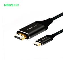 USB C to HDMI 4k Cable Type-C to HDMI+VGA DVI Converter hub 4K for Macbook xiaomi Notebook Galaxy S8 Huawei Mate 10 USB-C HDMI