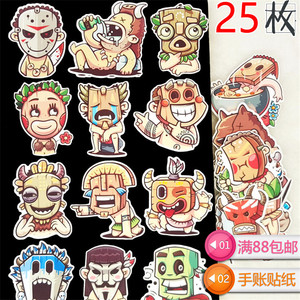 Image 5 - 25 pcs Anime retro character scrapbooking Stickers Laptop Sticker Decor Fridge Skateboard For Travel Suitcas diy tool