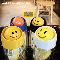 Creative My Smile Tea Milk Coffee Water Bottle Cartoon Lovely Eco Friendly Plastic Drinkware Kettle With