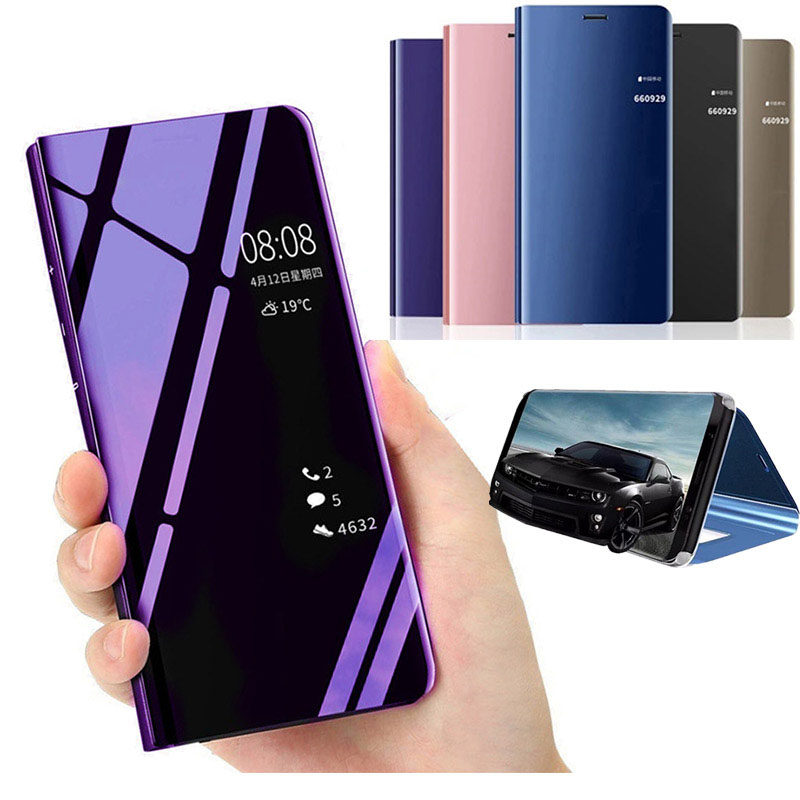 Mirror Smart View <font><b>Case</b></font> For <font><b>Samsung</b></font> <font><b>galaxy</b></font> A8 <font><b>A7</b></font> A6 A5 J6 J4 J3 J2 <font><b>2018</b></font> J5 J7 Neo CORE 2017 Prime A520 A530 J250F Cover <font><b>Flip</b></font> <font><b>Case</b></font> image