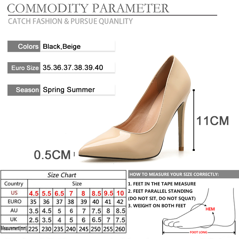 BYQDY Women Shoes Pointed Toe Pumps Patent Leather Fashion Office Career Shoes High Heels Nude Shoes Wedding Shoes Promotion in Women 39 s Pumps from Shoes