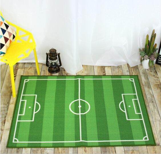 Rugs For Kids Bedroom Soccer Field Theme 100% Nylon Carpet Tapete Alfombras  Tapis Carpets Rugs