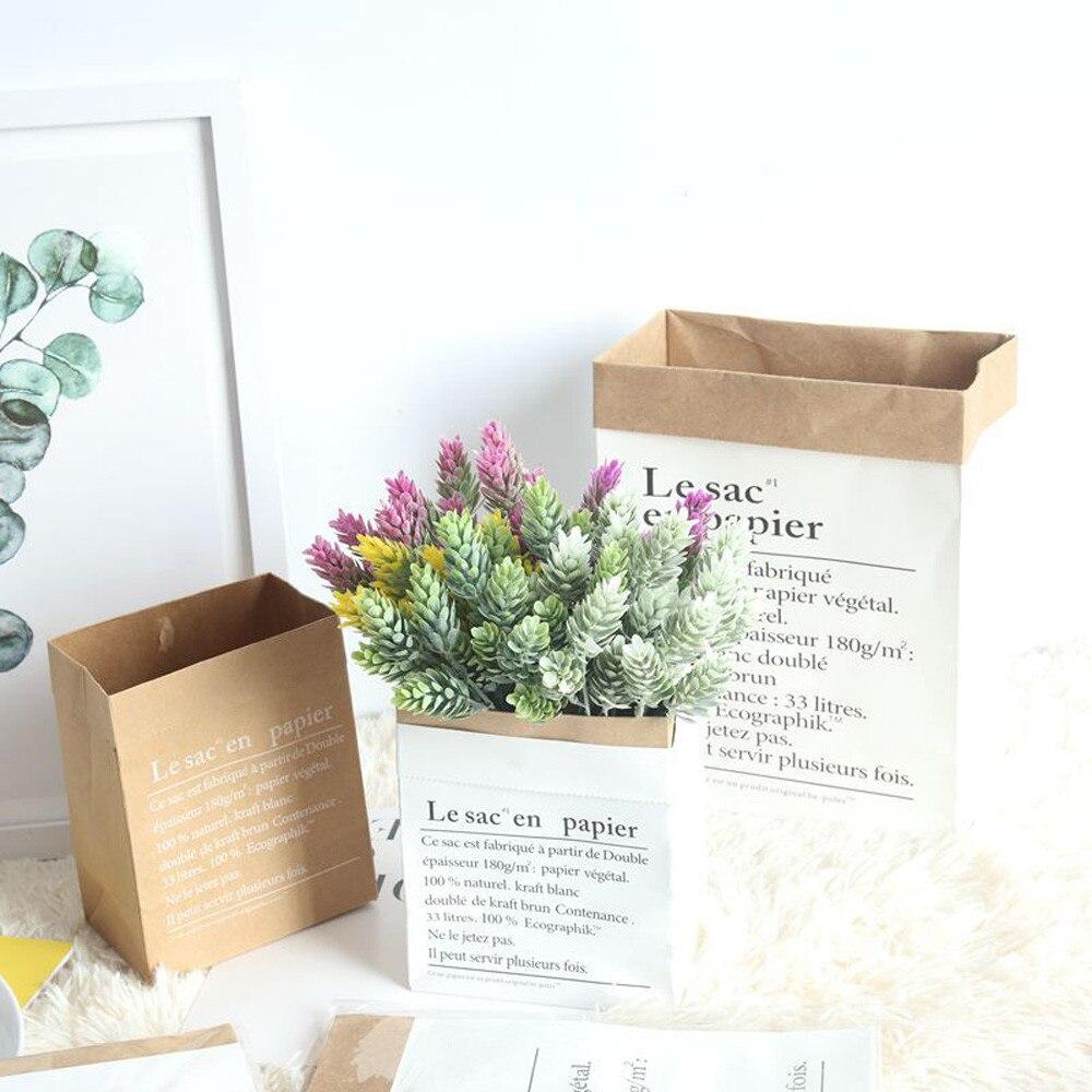 Tool Storage-Bag Laundry-Bag Toys Flower Inner-Wall-Accessories Baby Cute Fruit Kraft-Paper
