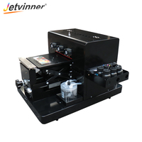 Jetvinner A4 Small size LED UV Printer Flatbed Print Machine 2sets with one extra print head for Phone Case, Acrylic,leather,TPU