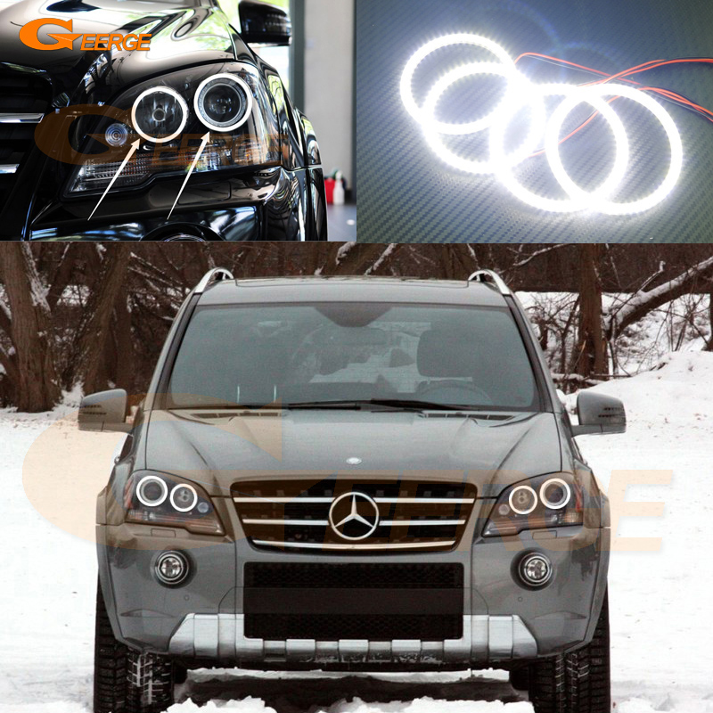 For Mercedes Benz M Class W164 ML320 ML350 ML450 ML500 ML550 ML63 AMG 2008-2011 Excellent Ultra bright smd led Angel Eyes kit for mercedes benz b class w245 b160 b180 b170 b200 2006 2011 excellent multi color ultra bright rgb led angel eyes kit
