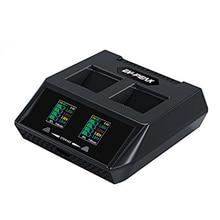 EV-PEAK DY3 70Wx2 6A/CH Dual Port Charger Baterai untuk Topan H Drone Baterai dan Remote Controller dengan 5 V 2A USB