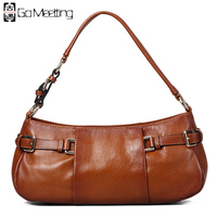 FS Genuine Leather Women S Shoulder Bags High Grade Fashion Bag First Layer Cowhide British Classic