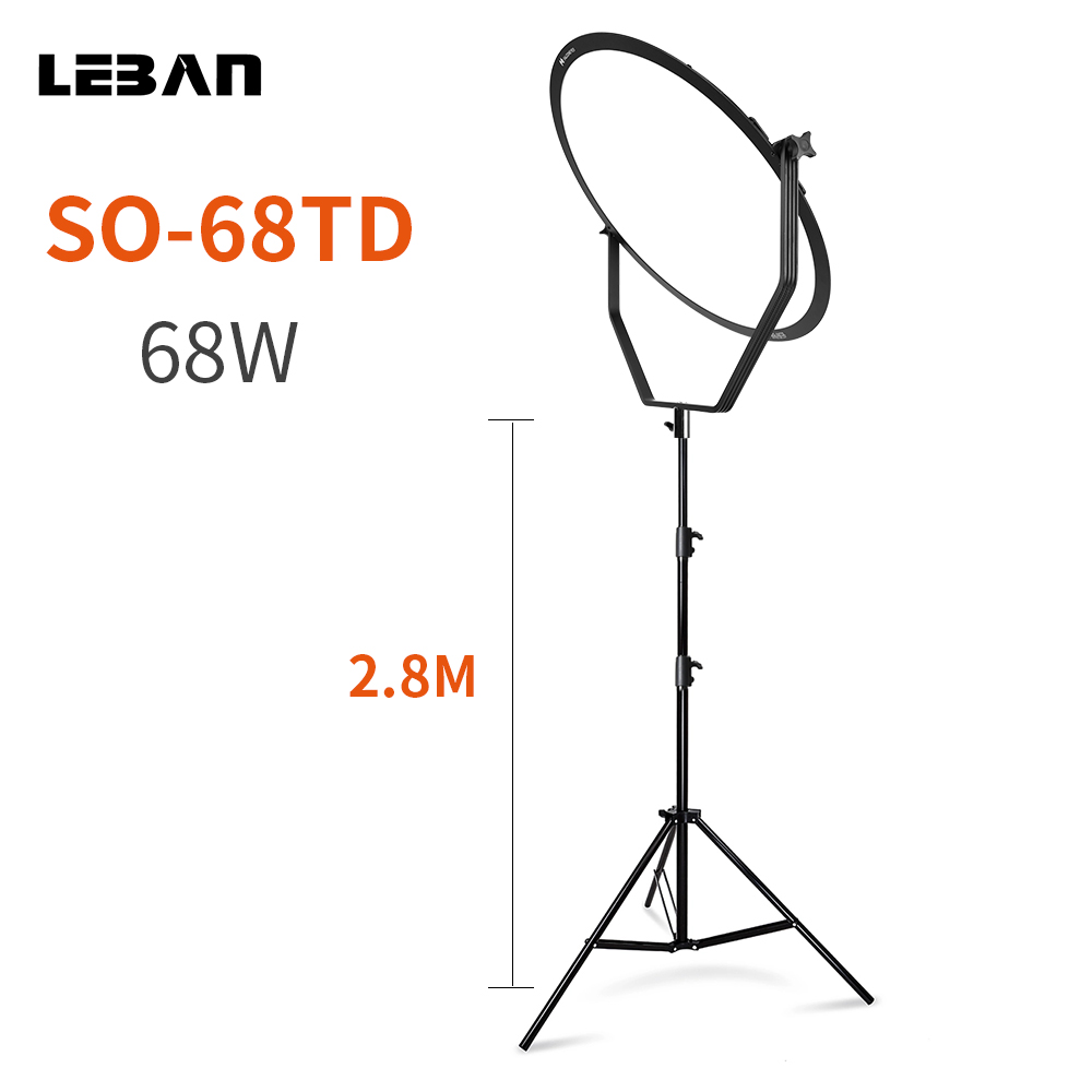 US $480 0 20% OFF Falcon Eyes SO 68TD 68W LED Panel Dimmable High CRI95  3000 5600K Lighting Photo Video Film Continuous Light W/Camera Bracket-in