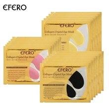 лучшая цена 24K Gold Mask Crystal Collagen Eye Mask Eye Patches for the Eyes Care Dark Circle Puffiness Eye Bag Anti-Aging Wrinkle Face Mask