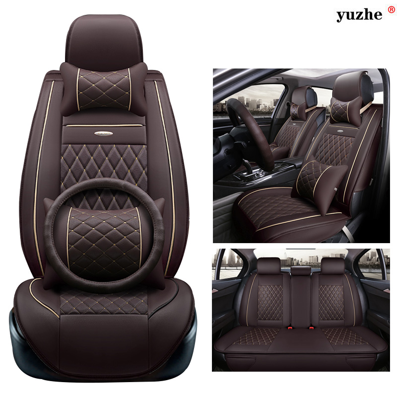 Yuzhe leather car seat cover For Mercedes-Benz B180 C200 E260 CL CLA GLK300 ML 400 S350 S400 w203 w204 w211 accessories styling for mercedes benz c200 e260 e300 a s series ml350 glk brand leather car seat cover front and back complete set car cushion cover