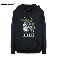Flevans 2017 Fashion Hoodies Men Sudaderas Hombre Hip Hop Mens Brand Hooded Thor Ragnarok Hulk Printed