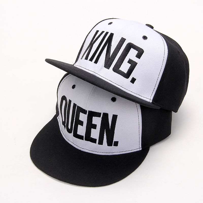 VORON Letters Hip Hop Cap Women Men Hats Cap King Queen Caps for Lovers Unisex Snapback hat Adjustable Bone Black Baseball cap new fashion floral adjustable women cowboy denim baseball cap jean summer hat female adult girls hip hop caps snapback bone hats