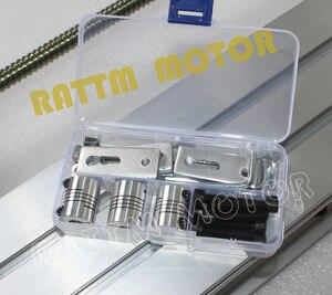 Image 5 - EU Miễn Phí VAT DIY Sử Dụng CNC 6040 CNC Router Khắc Khắc Máy Khung Bộ Bóng Vít & 80 Mm nhôm Con Quay Kẹp
