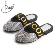2019 Fashion New Summer Children Diamond letter Breathable Boys And Girl Slippers sandals two wear Antiskid Slippers Beach Shoes(China)