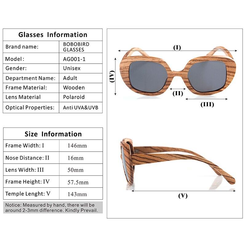 BOBO BIRD Polarized Retro Eyewear Wood Sunglasses 8