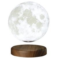 Leviluna Magnetic Levitating Moon Lamp Unibody Seamless 3D Printing PLA Rotating Levitation Floating Moon Lamp LED Moon Light