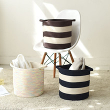 Nordic Style Multifunctional Storage Bag Bathroom Bedroom Cotton Linen Laundry Hamper Basket Toys Organizing