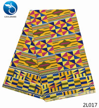 LIULANZHI african material print 2018 dresses for men wholesale fashion wax fabric polyester 6yards 2L001-1020