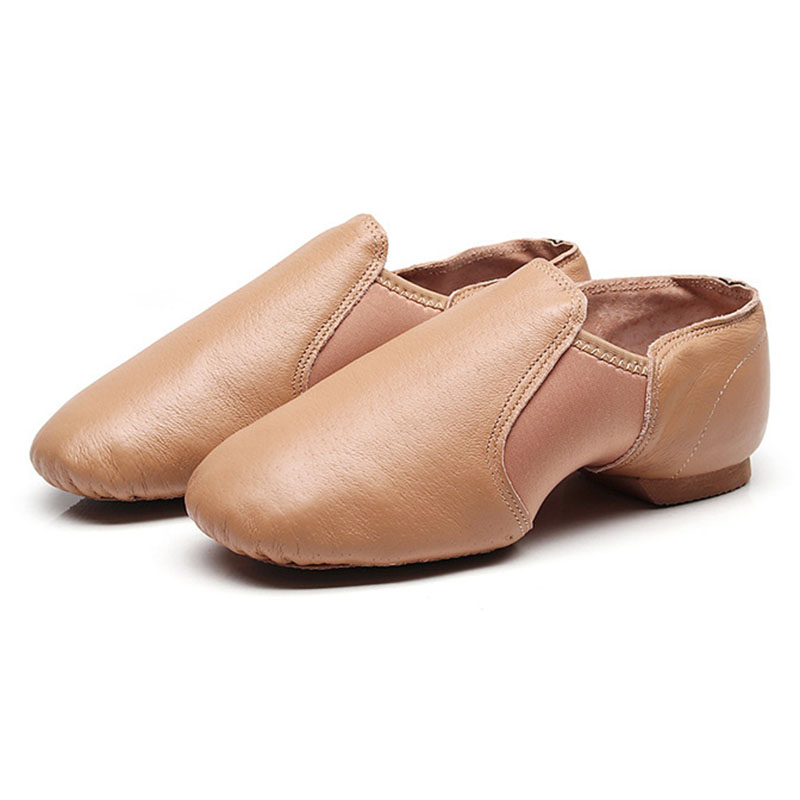 2019 Professional Jazz Dance Shoes Unisex Gymnastics Dance Shoes Soft Dancing Sneakers Slip on Leather Jazz Shoes for Kids(China)