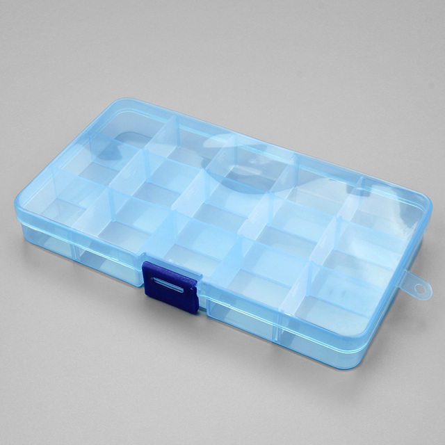 1pcs Plastic 6/815 Storage boxes Slots Adjustable packaging transparent Tool Case Craft Organizer box jewelry accessories 1