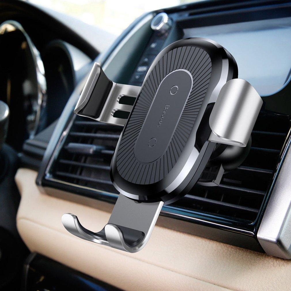 Baseus Qi Sem Fio do Carregador Do Telefone Do Carro Titular para o iphone XS Montagem Rápida Titular Suporte Do Telefone Móvel de Carregamento Sem Fio para o Carro stand
